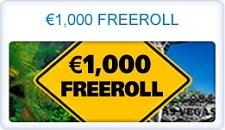 Paradise Poker $1,000 New Player Freerolls
