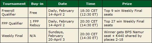 belgian poker series qualifiers