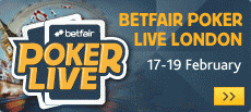 Betfair Poker Live London Qualifiers