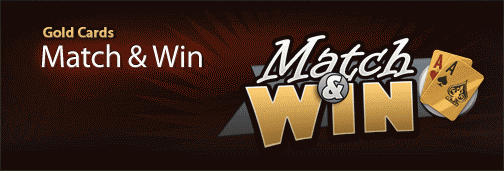 Cake Poker Gold Cards Match & Win