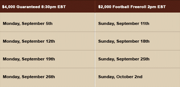Cake Poker Money Night Football Schedule