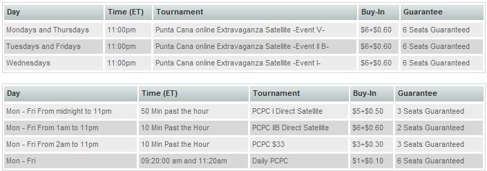 Punta Cana Satellite Schedule