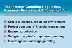 HR 2267: the Internet Gambling Regulation, Consumer Protection and Enforcement Act