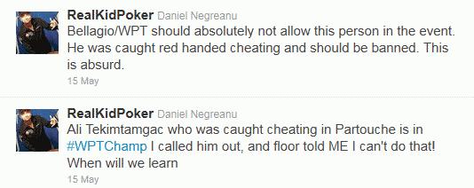 Daniel Negreanu Twitter Comments