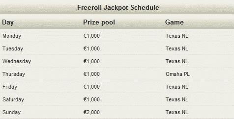 NoiQ Poker 50K Freeroll Jackpot Schedule