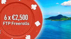 Paradise Poker 15K July Freerolls