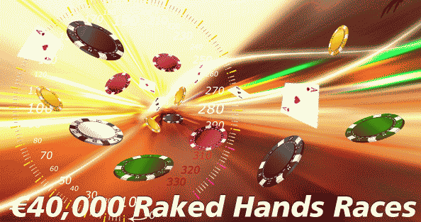 Paradise Poker 40K Raked Hands Races