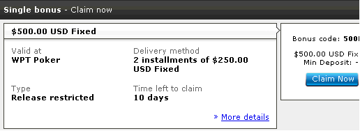 Party Poker $500 Free Bonus
