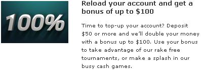 Party Poker Reload Bonuses Info