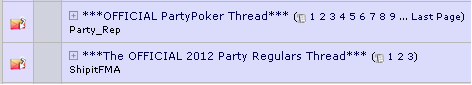 Party Poker 2+2 Thread