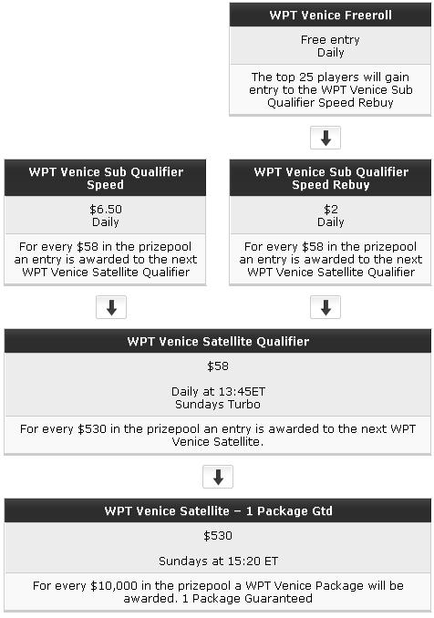 WPT Poker & Party Poker WPT Venice Qualifiers