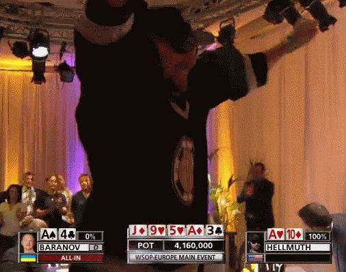 Phil Hellmuth WSOP Europe Celebration