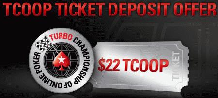 PokerStars TCOOP Ticket Reload Offer