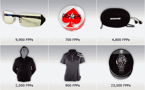 PokerStars VIP Club Blast Off FPP Store Items