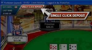 Single Click quick deposit to Full Tilt Poker.