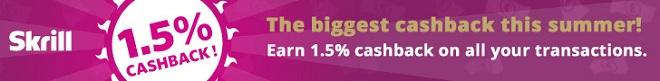 Get 1.5% Cashback with Skrill