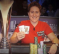 Team PokerStars professional poker player Vanessa Selbst, know online as 'fslexcduck'.