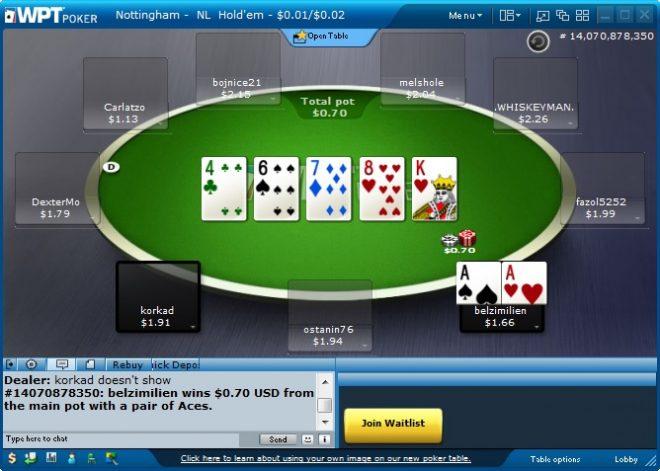 WPT Poker Table