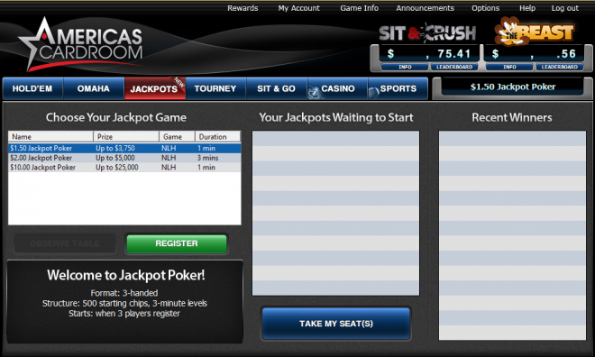 jackpot poker americas cardroom