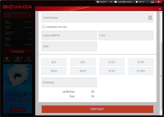 Bovada first deposit bonus poker dna slot blot protocol