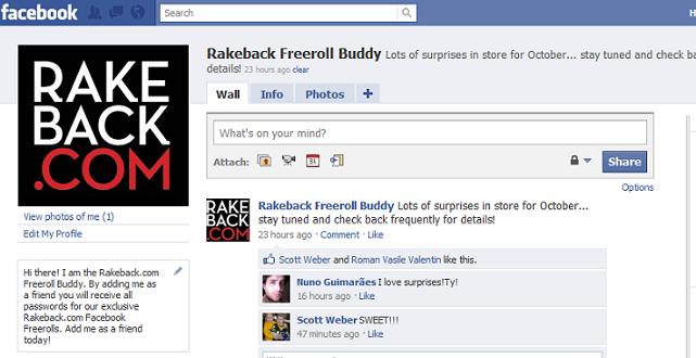 Rakeback Freeroll Buddy Page