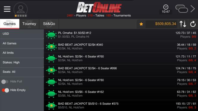 BetOnline Bad Beat Jackpot Back Over $500,000!