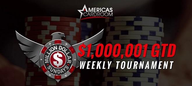 Americas Cardroom Million Dollar Sundays – EVERY SUNDAY