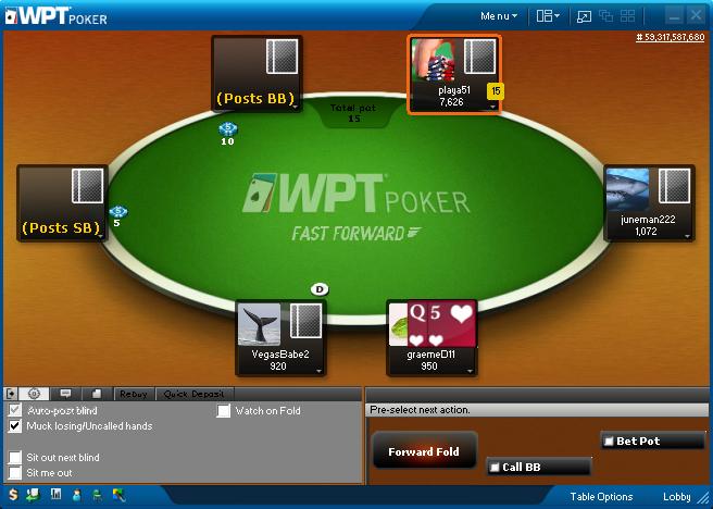 PartyPoker Fast Fold Format - FastForward Poker
