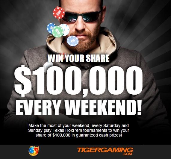 tiger-gaming-poker-100k-tournament-guarantees-every-weekend